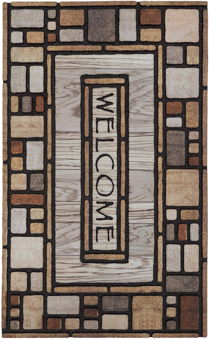 Villa Cottage Gray & Brown Door Mat
