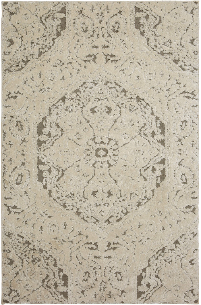 Chateau Sydney White & Gray Area Rug