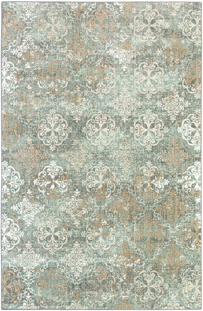 Sancerre Aria Abyss Blue & Brown Area Rug