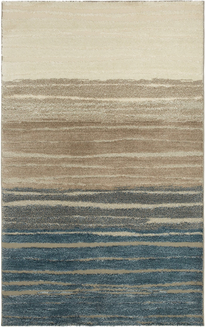 Brizo Broadmoor Brown & Blue Area Rug