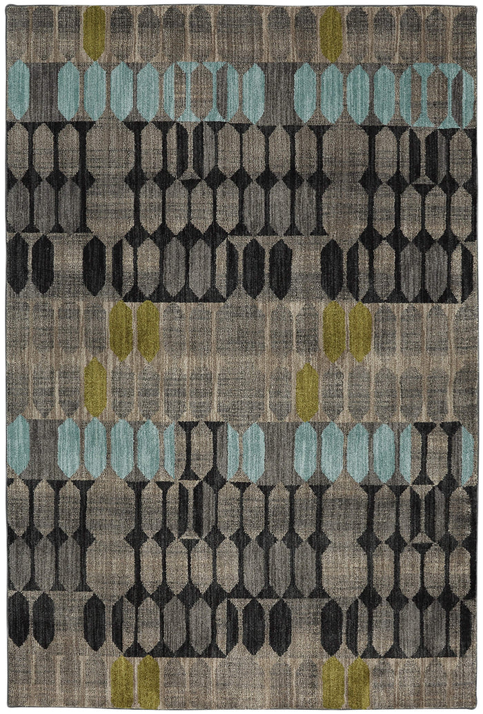 Dominica Canopus Gray & Blue Area Rug