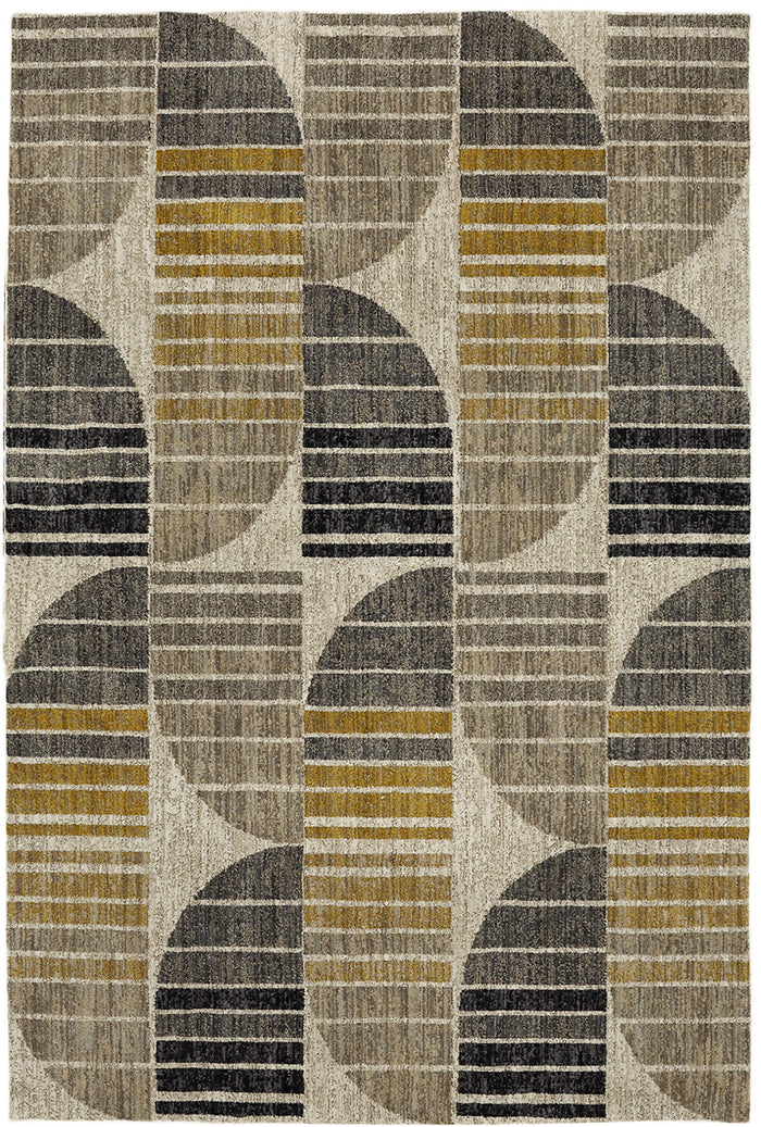 Dominica Polaris Gray & Yellow Area Rug