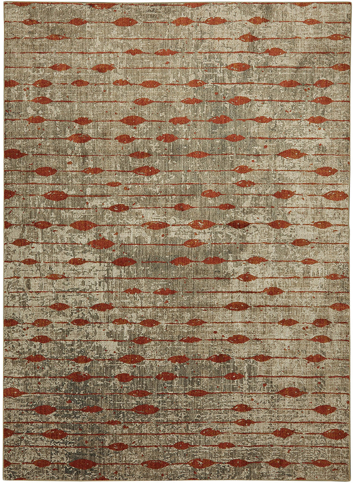 Dominica Dolce Gray & Orange Area Rug