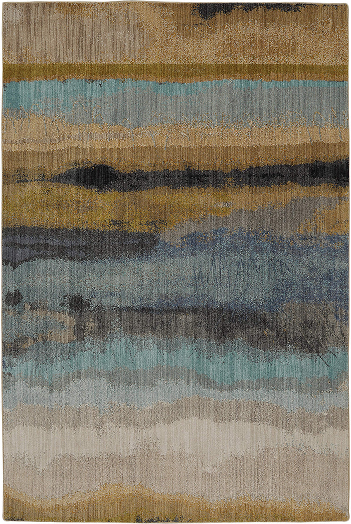 Skye Javed Blue & Yellow Area Rug