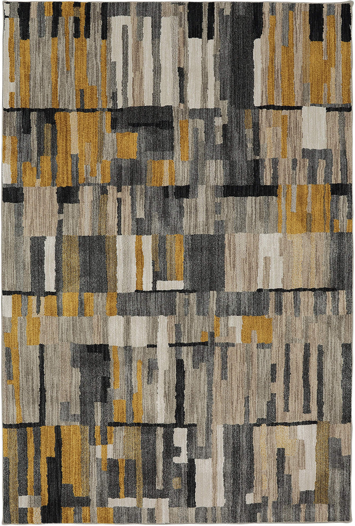 Seychelles Vallarta Gray & Yellow Area Rug