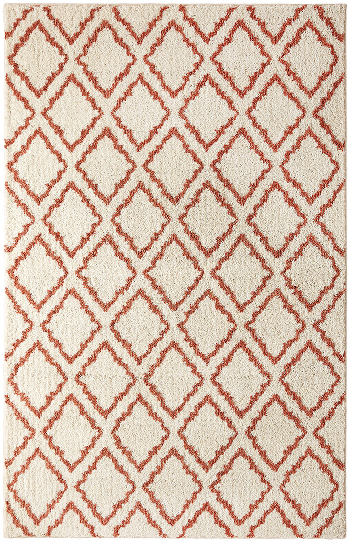 Heathland Daly White & Pink Area Rug