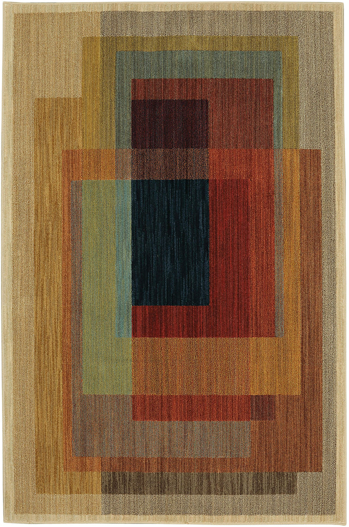 Metropolitan Razzi Gray & Orange Area Rug