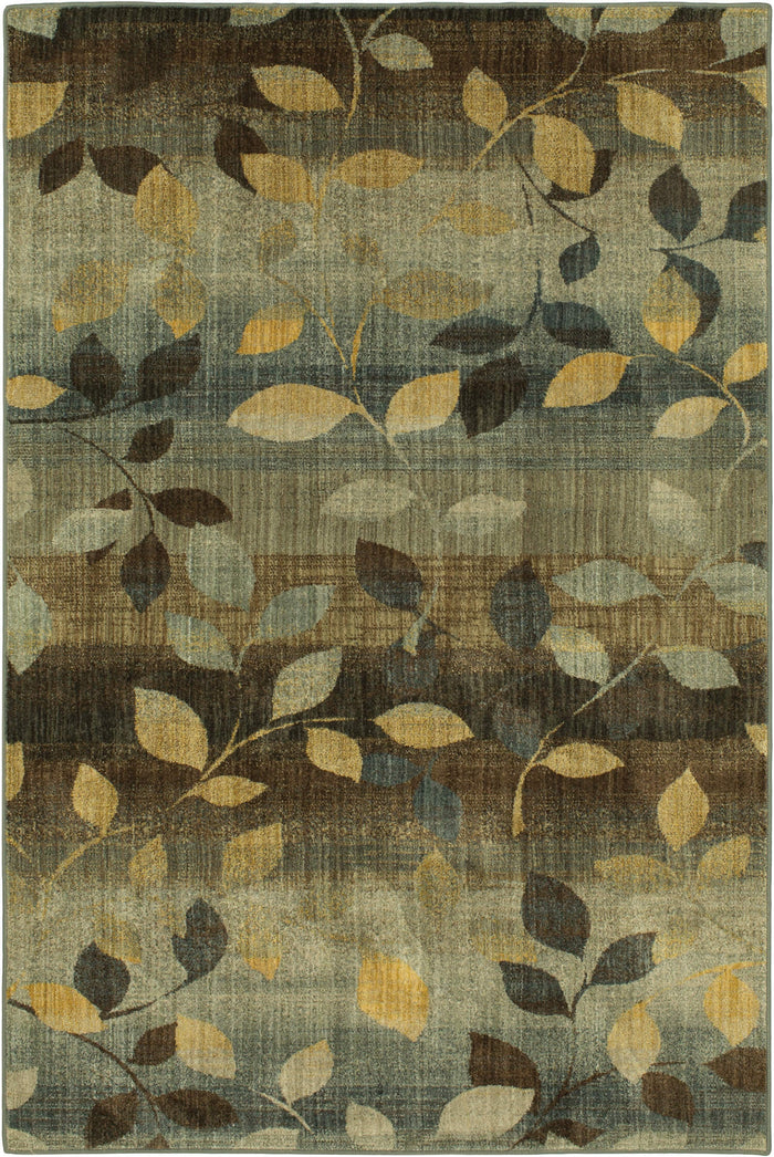 Savvy Morrell Sea Green & Brown Area Rug