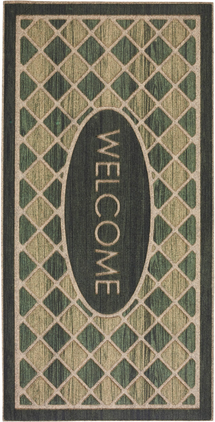 Avenue Entry Odessa Green Door Mat