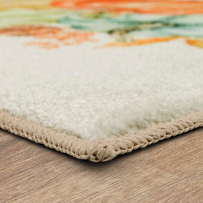 Fall Pumpkins Vintage Accent Rug