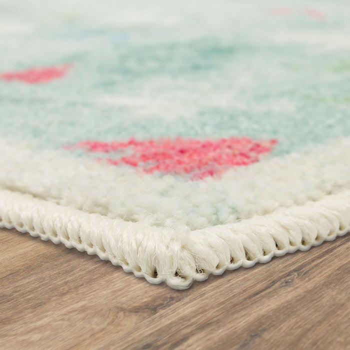 Holiday Forest Aqua Accent Rug