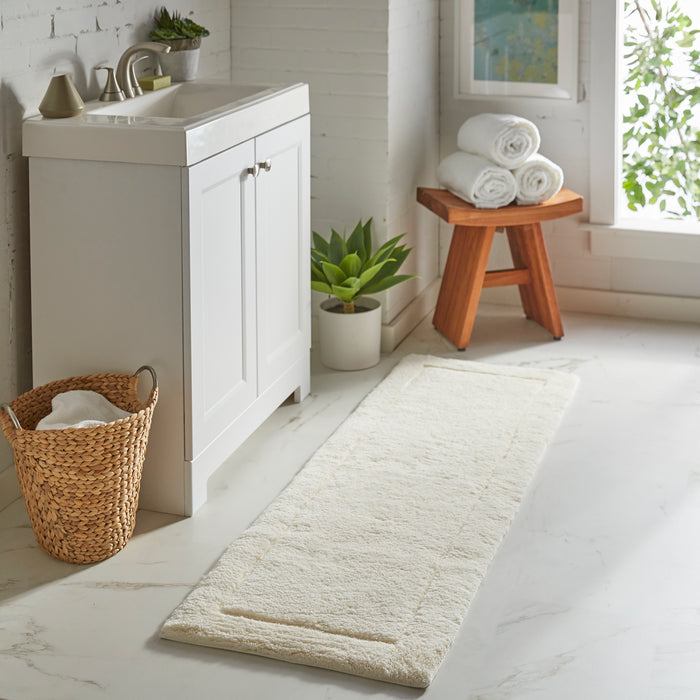 Chalice White Bath Mat