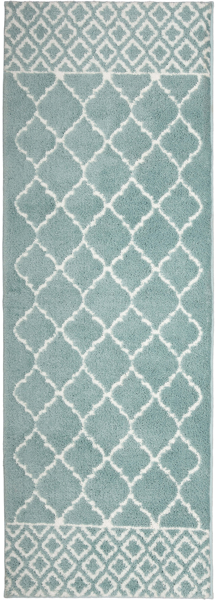 Compass Newport Blue Green Bath Mat Covered By Rugs