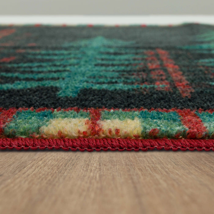 Plaid Forest Green Accent Rug