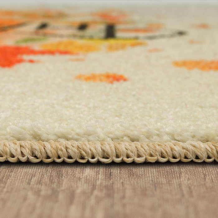 Thanksgiving Leaves Spice Accent Rug