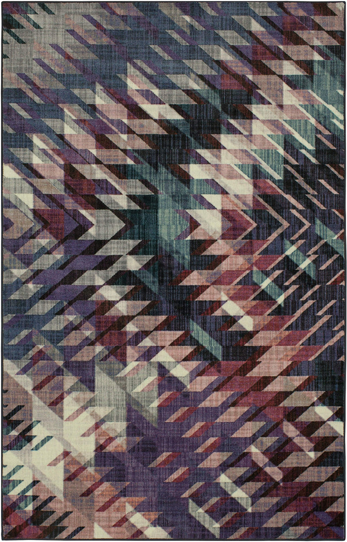 Technicolor View Purple & Blue Area Rug