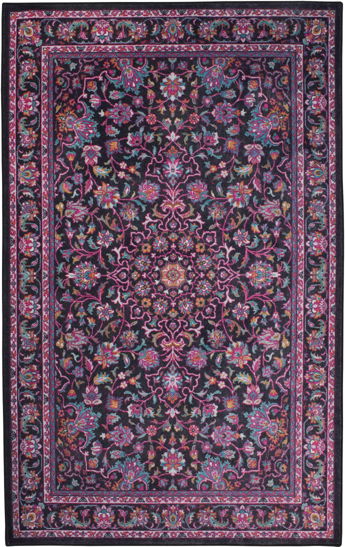 Technicolor Clarita Gray & Purple Area Rug