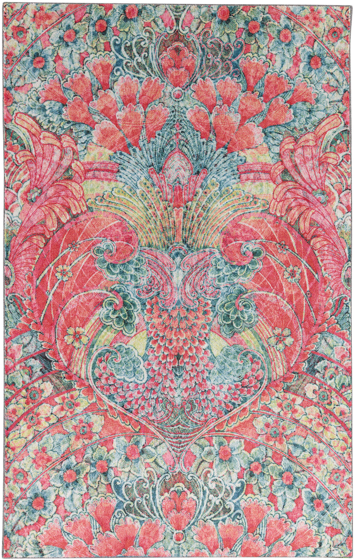 Technicolor Reverie Pink & Blue Area Rug