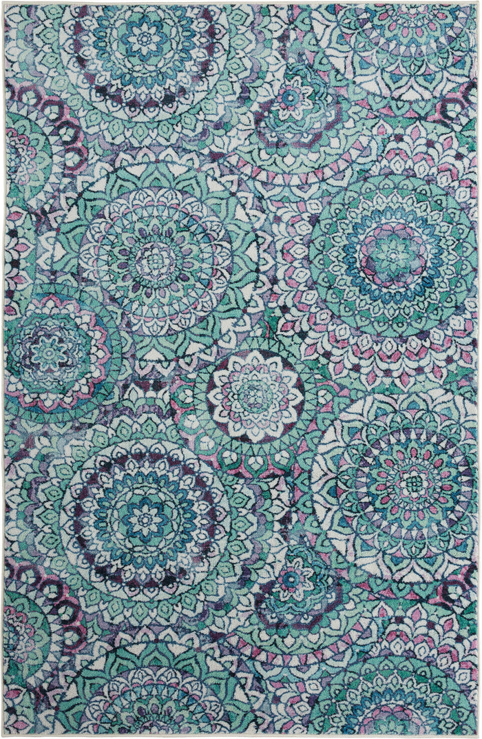Technicolor Farida Blue Area Rug