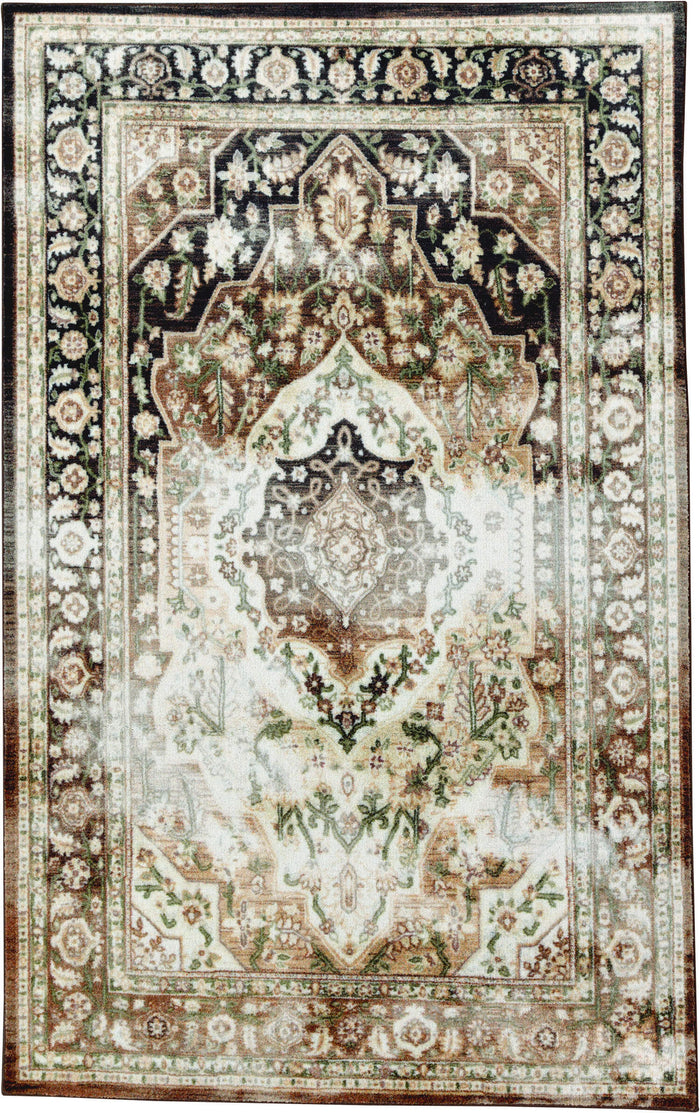 Technicolor Safaa Brown Area Rug