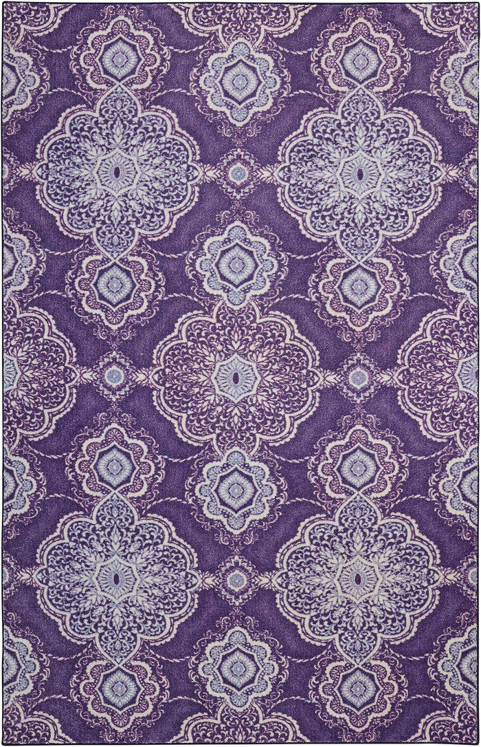 Technicolor Magnolia Purple Area Rug