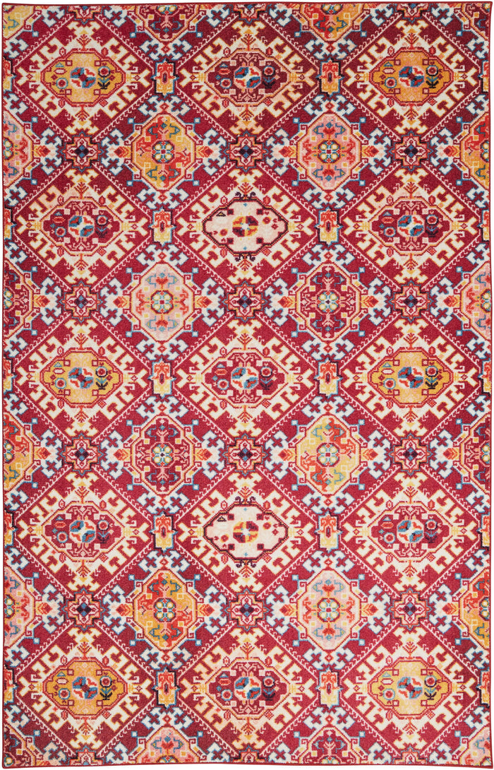Technicolor Islands Pink & Gold Area Rug