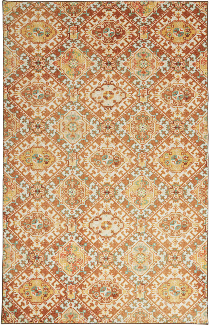 Technicolor Islands Brown & Gold Area Rug