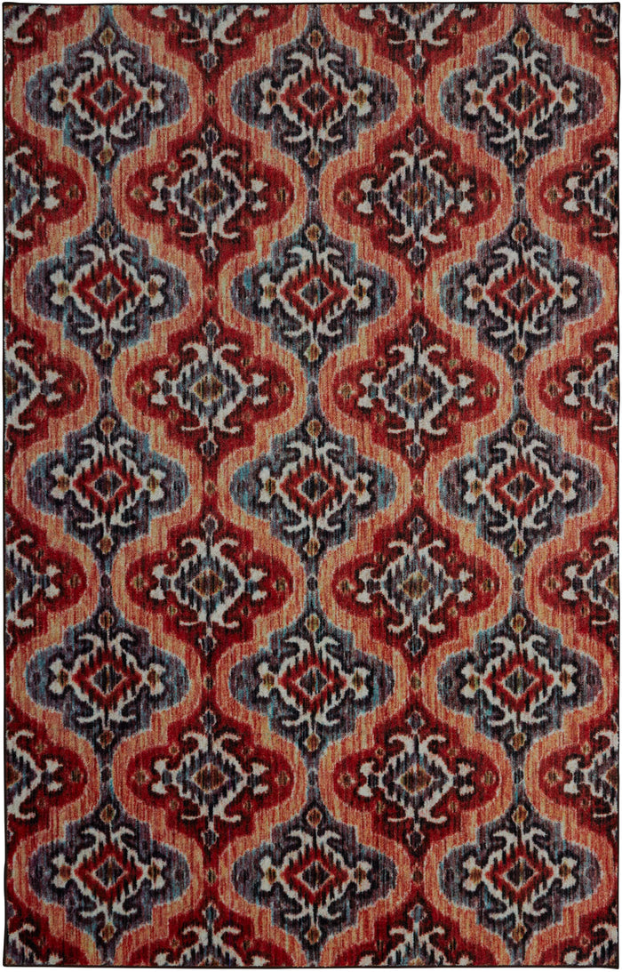 Technicolor Cicero Red Area Rug
