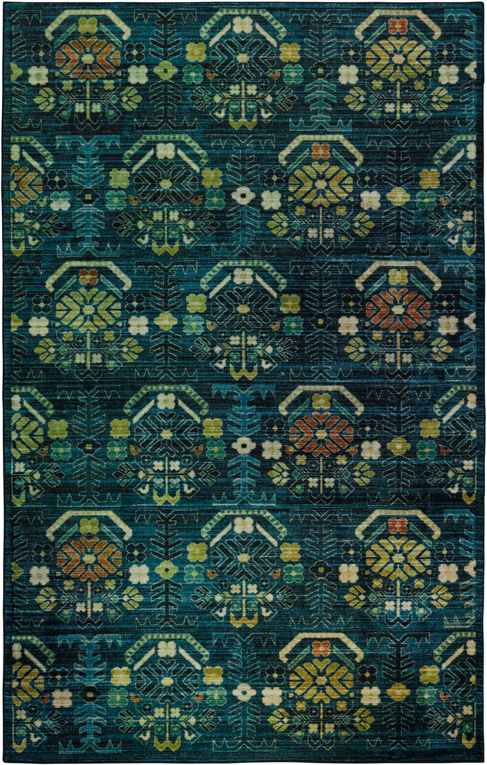Technicolor Mirage Blue & Green Area Rug