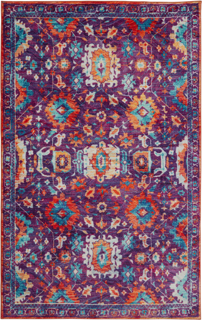 Technicolor Pomona Purple & Orange Area Rug