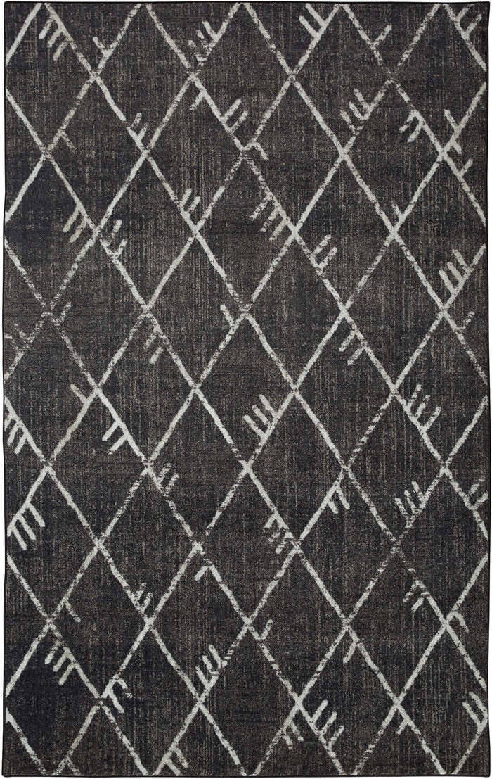 Technicolor Blair Gray & Black Area Rug