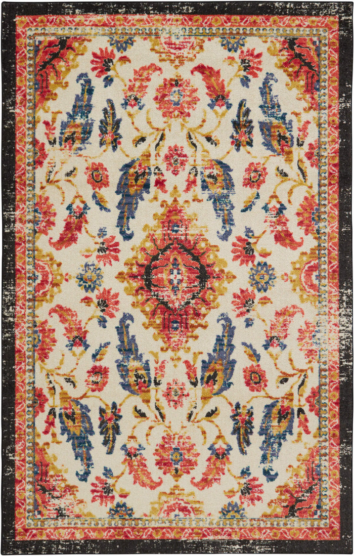 Technicolor Prescott Gray & Orange Area Rug