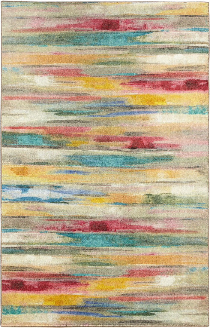 Technicolor Colors of Spring Yellow & Red Area Rug