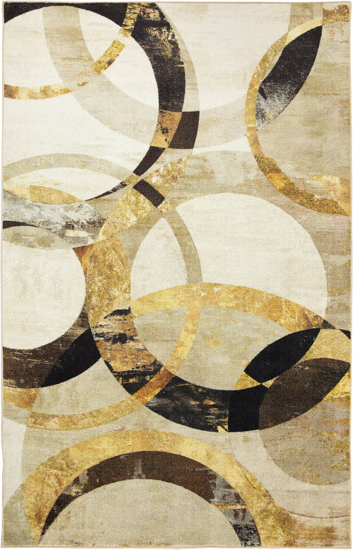 Technicolor Reflective Gray & Gold Area Rug