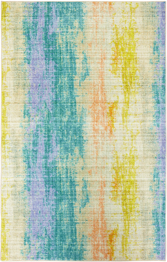 Technicolor Orleans Blue & Yellow Area Rug