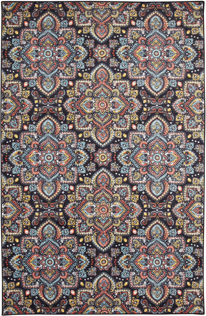 Technicolor Artesia Blue & Orange Area Rug