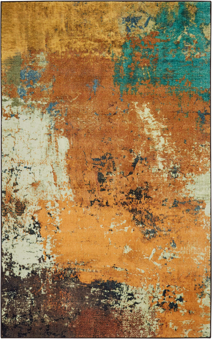 Technicolor Brooks Brown Area Rug