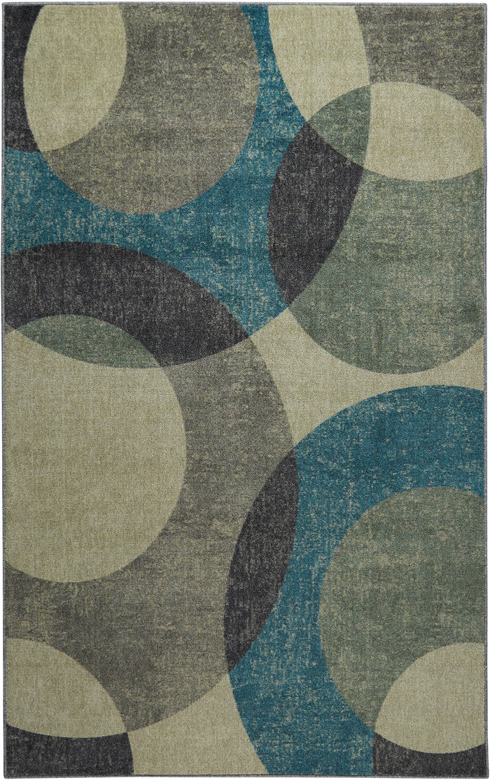 Technicolor Laguna Gray & Green Area Rug