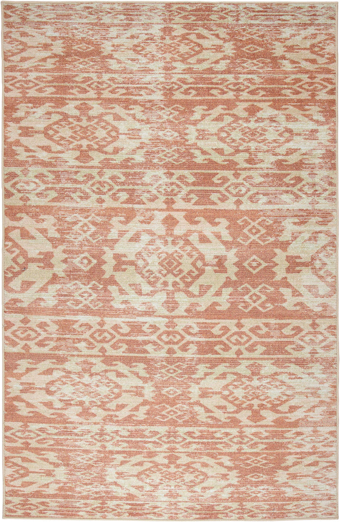 Technicolor Mission Pink Area Rug