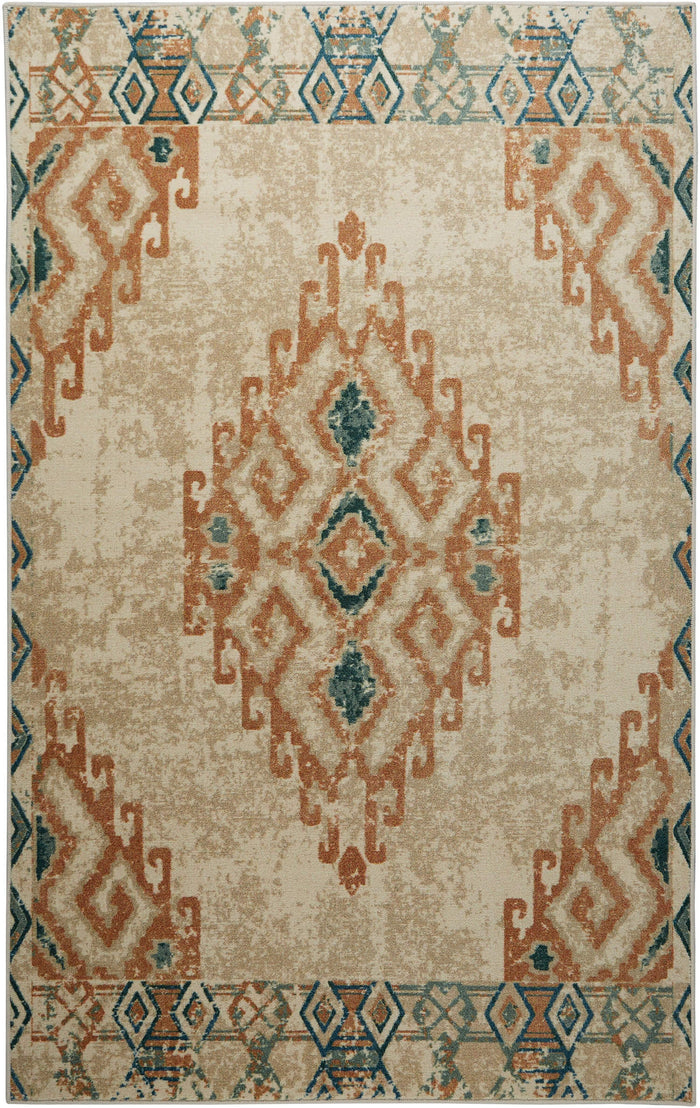 Technicolor Falcon Brown Area Rug