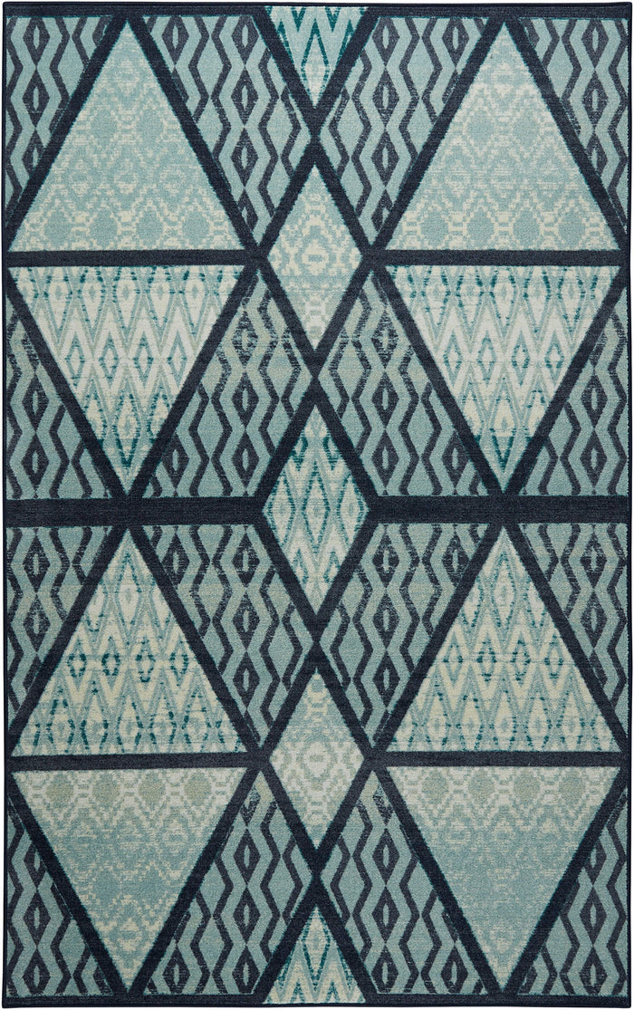 Technicolor Quinn Blue & Green Area Rug