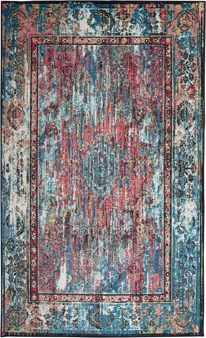 Technicolor Fairfield Pink Area Rug