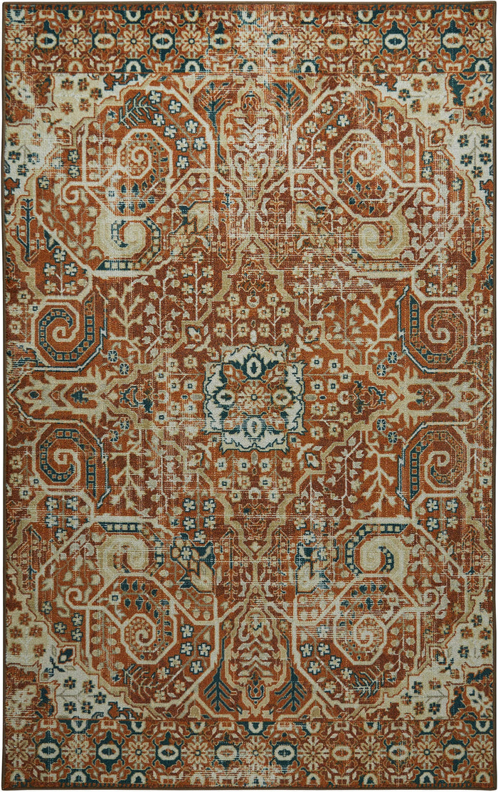 Technicolor Antonio Orange Area Rug