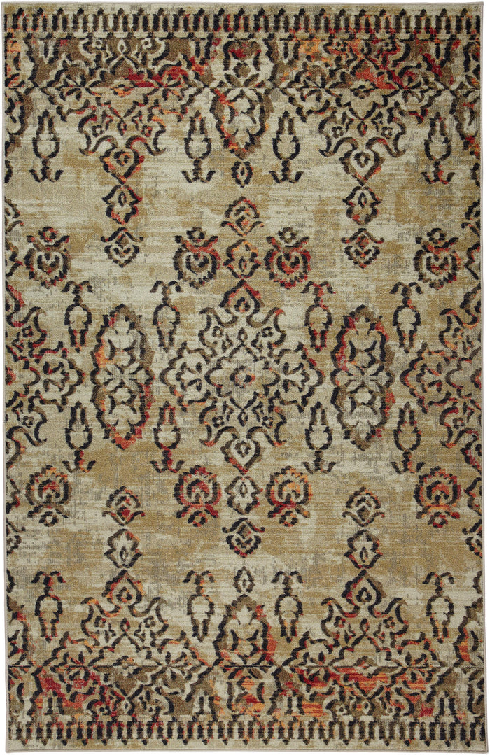 Technicolor Stephan Light Brown Area Rug