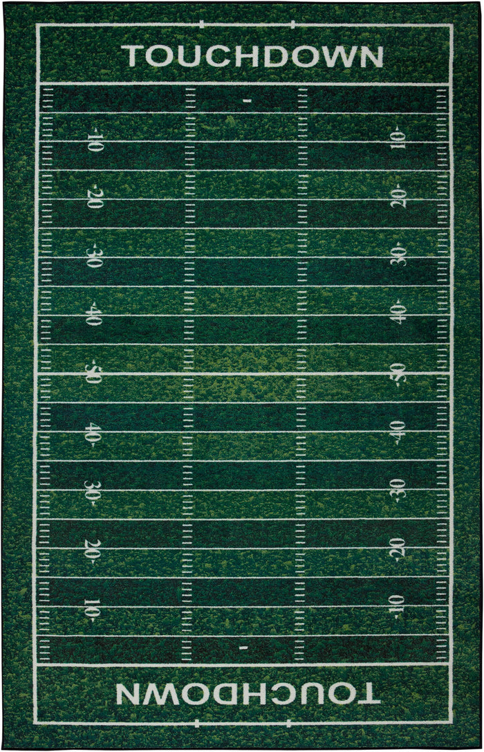Technicolor Touchdown Green Area Rug