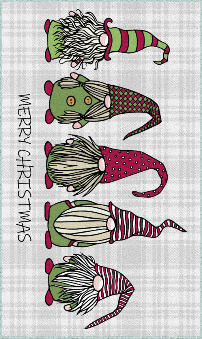 Christmas Elves Gray Mat