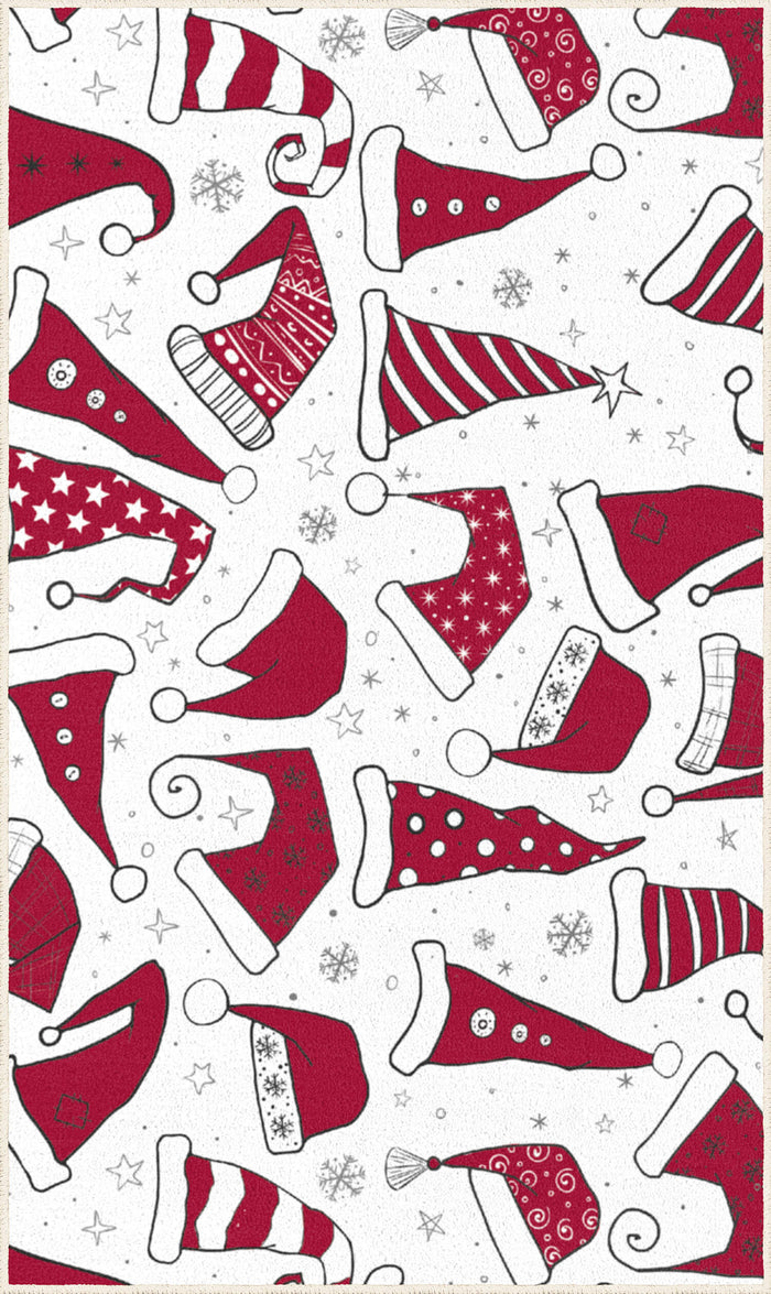 Christmas Hats Red & White Mat