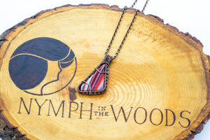 streaked-red-white-triangle-fused-glass-pendant-copper-wire-wrapping-nymph-in-the-woods-jewelry