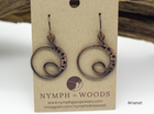Woven Copper Earrings