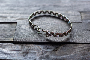 Sterling Silver Pyramid Weave Bracelet
